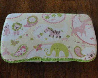 Baby Wipes Case, Travel Wipes Case, Wipes Case, Jungle Animals