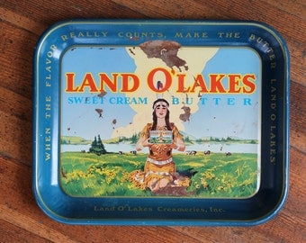 Vintage Land O' Lakes Sweet Cream Butter Tray