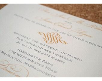 Simple and Elegant Filigree Swirl Wedding Invitations - Modern Filigree Wedding Invitation - Swirl Wedding Invites