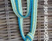 Crochet pattern SKINNY SCARF by ATERGcrochet