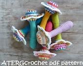 Crochet pattern flower baby rattle by ATERGcrochet