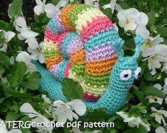 Crochet pattern RAINBOW SNAIL