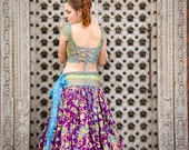 purple indian long ethnic skirt
