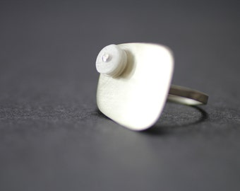 Recycled Sterling Silver and Milk Jug Ring Recycled Jewelry