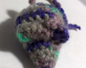 Heather Mouse Cat toy. crinkly or rattle, cat nip. gray purple teal