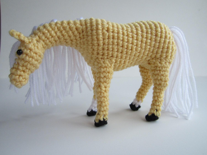 Palomino Horse Crochet Animal Amigurumi Horse