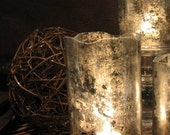 "Mercury Glass Candle Holder/Shade - 6"""