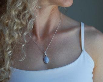 Artisan Necklace Simple White Necklace Silversmith Pendant Bridal Silversmith Jewelry Artisan Jewelry