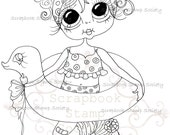 INSTANT DOWNLOAD Digital Digi Stamps Big Eye Big Head Dolls Messy Bessy IMG831 My Besties By Sherri Baldy