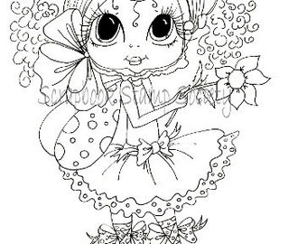 INSTANT DOWMLOAD Digital Digi Stamps Big Eye Big Head Dolls Digi  Pheebee Flutterbee Besties By Sherri Baldy
