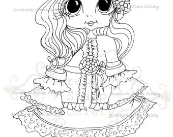 INSTANT DOWNLOAD Digital Digi Stamps Big Eye Big Head Dolls Digi  IMG779 By Sherri Baldy
