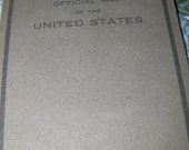 1916 Vintage National Survey Map of the United States in hardcover