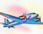 Instant Digital Download-WW2 Plane for clipart