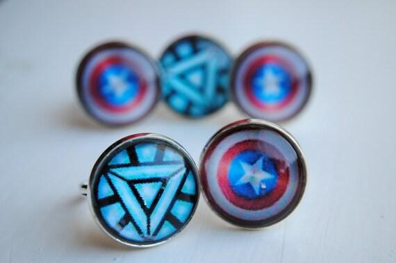 Iron Man Arc Reactor Ring Arc Reactor or Shield Ring
