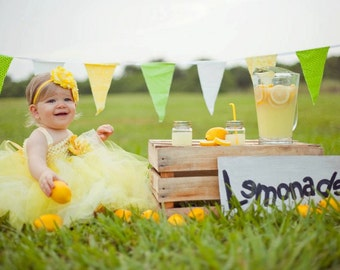 Lemon Meringue Tutu Dress- Yellow flower girl, wedding