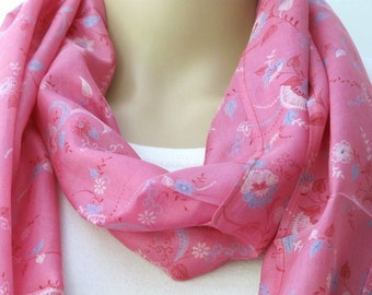 Pink scarf, Infinity Scarf