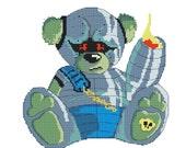 Cross Stitch Kit  'Cyber Ted' Modern Needlecraft Kit