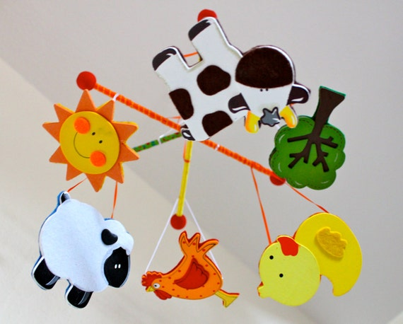 Items similar to unique nursery mobile best baby crib for Unusual baby mobiles