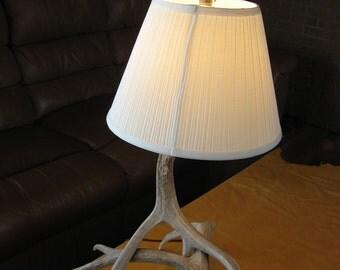 antler table lamp