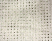 Cotton Rib Pointelle Knit Tiny Dots Sage/White 1 yard