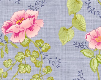 SALE - In The Beginning Fabrics - Jasmine Tea Collection - Climbing Roses - Pink/Orchid
