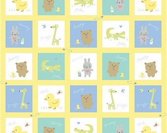 Windham Fabrics-Baby Buddies Collection-Baby Squares-PANEL