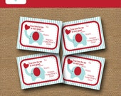 Elephant Valentine | Classroom Valentine for Kids | DIY PRINTABLE | Christian, Scripture, Bible Valentine for Children | Instant Download