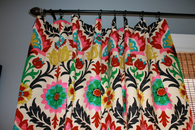 Waverly Santa Maria Curtain Panel Custom Drapery In Desert