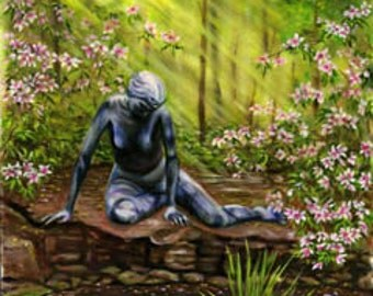 Landscape painting 8x10 print from original oil painting fantasy art wall art flower painting garden art Earthspalette.