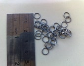 925 sterling silver open jumpring 4.0 mm oxidized