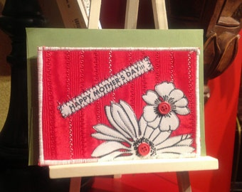 Contemporary Flower Mother's Day Card