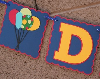 Balloon Birthday Banner, Happy Birthday, Party Decoration