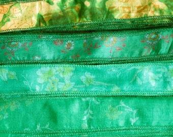 Silk Sari Ribbon, Silk Trim, 4 colors, A6