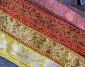 Silk Sari Ribbon, Silk Trim, 4 colors, A20