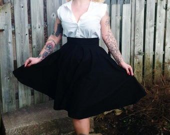 Pinup Pretty Poodle Circle Skirt Black
