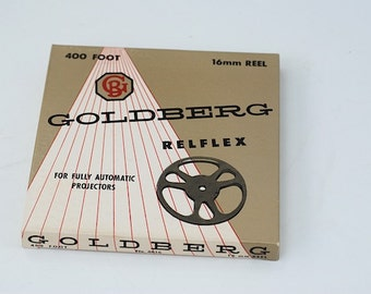 Goldberg 16mm Reflex Projector Reel, Mid Century Office School Projector Supplies,