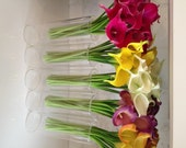 Fine Silk Flowers Faux Calla Lilies bundle 9 stems/bundle