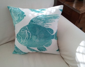 """Fish in Turquoise 20"""""""