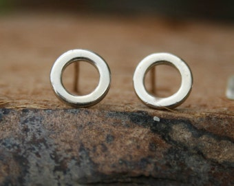 Sterling Silver Post Earrings - Hoops Studs