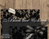 Digital LACE Overlay and LINEN Background Paper for Photographer Book Layout Photo Backdrop Web Blog Black Lace Die Cut Linen Burlap p03