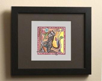 Medieval Devil watercolor archival print