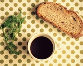 Food Photography Still Life Breakfast - 8''x6'' - 20x15  - Kitchen Home Wall Decor Decoration - Photograph Photo Meal Food Green Bread Print