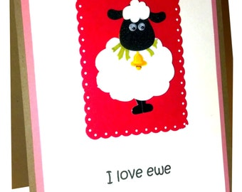 Valentines card, I love you card, Anniversary card, Valentine for neice, Valentine for her, cute valentine card