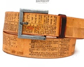 Vintage ENCYCLOPAEDIA belt for women and men