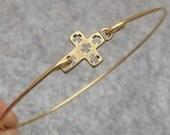 Cross Bangle Bracelet Style 5
