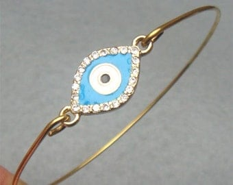 Evil Eye Bangle Bracelet Style 7