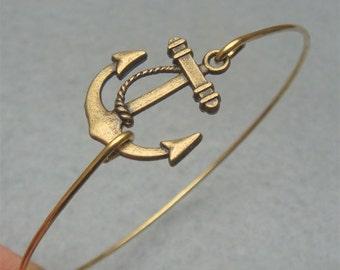 Anchor Bangle Bracelet Style 5