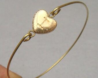Heart Bangle Bracelet Style 27