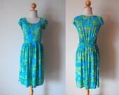 Blue Floral Classic Dress