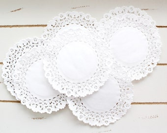 50 White Paper Doily Doilies 4 inch
